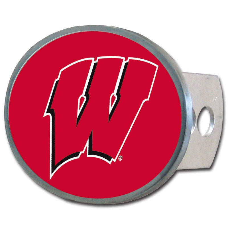Wisconsin Badgers Metal Oval Hitch Cover (NCAA)