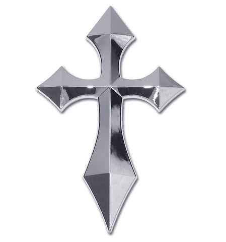 Cross Chrome Auto Emblem (Pointed)
