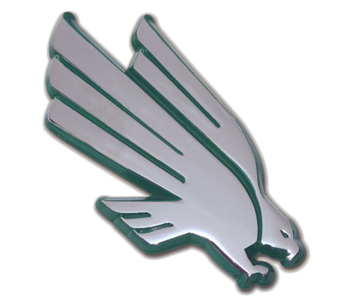 North Texas Mean Green Chrome Metal Auto Emblem (Green Eagle) NCAA