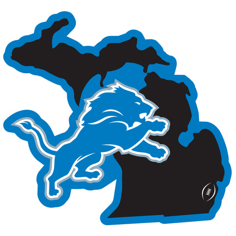 Detroit Lions Home State Magnet (NFL) Michigan Shape