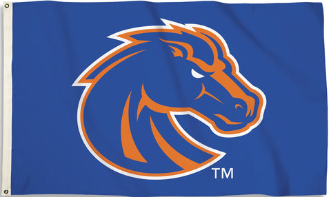 Boise State Broncos 3' x 5' Flag (Logo Only On Blue) NCAA