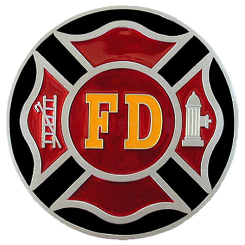 Fire Fighter Metal Hitch Cover (FD Maltese) Occupational
