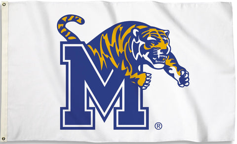 Memphis Tigers 3' x 5' Flag (Logo Only on White) NCAA