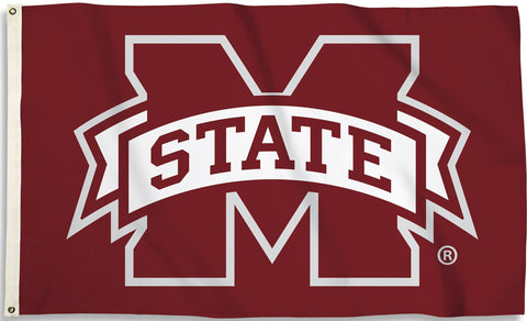 Mississippi State Bulldogs 3' x 5' Flag (Logo Only on Maroon) NCAA