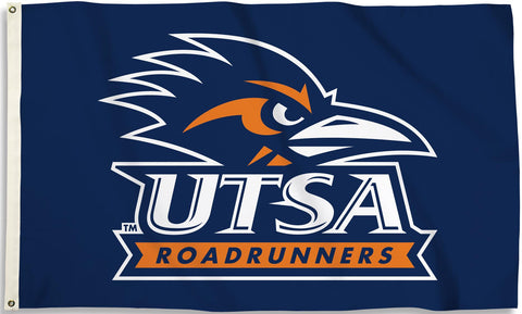 Texas San Antonio UTSA Road Runners 3' x 5' Flag (Logo on Blue) NCAA