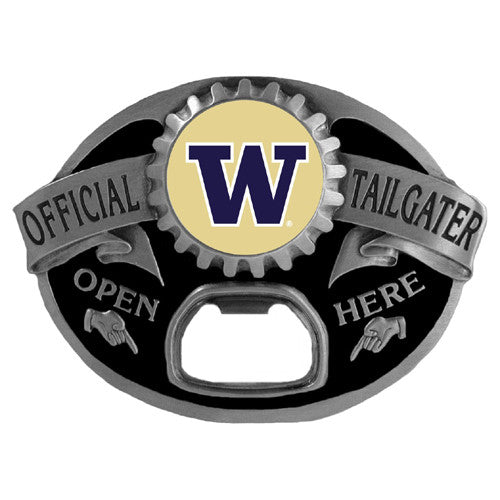 Washington Huskies Tailgater Belt Buckle with Bottle Opener (NCAA)