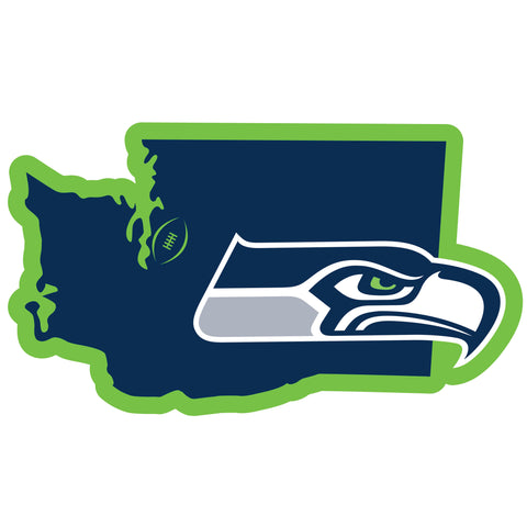 Seattle Seahawks Home State Magnet (NFL) Washington Shape