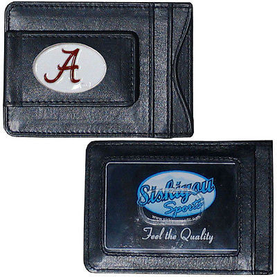Alabama Crimson Tide Fine Leather Money Clip (NCAA) Card & Cash Holder