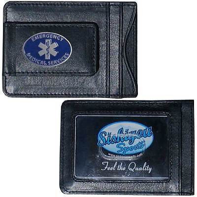 EMS Paramedic Fine Leather Money Clip (Occupational) Card & Cash Holder