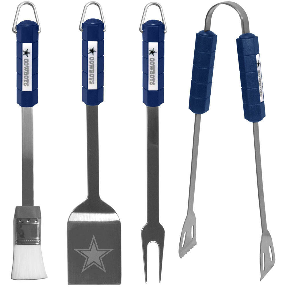Dallas Cowboys 4 Piece Stainless Steel BBQ Tool Set (NFL)