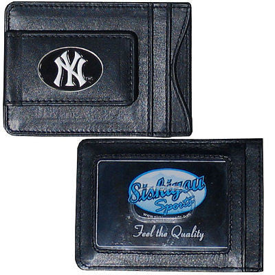 New York Yankees Fine Leather Money Clip (MLB) Card & Cash Holder