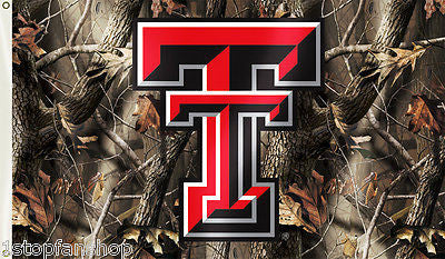 Texas Tech Red Raiders 3' x 5' Flag (Realtree Camo) NCAA
