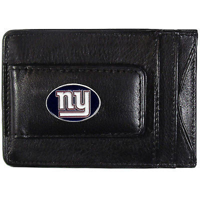 New York Giants Fine Leather Money Clip (NFL) Card & Cash Holder