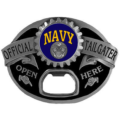 U.S. Navy Tailgater Belt Buckle with Bottle Opener (Military)