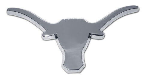 Texas Longhorns Chrome Metal Auto Emblem (Longhorn) NCAA