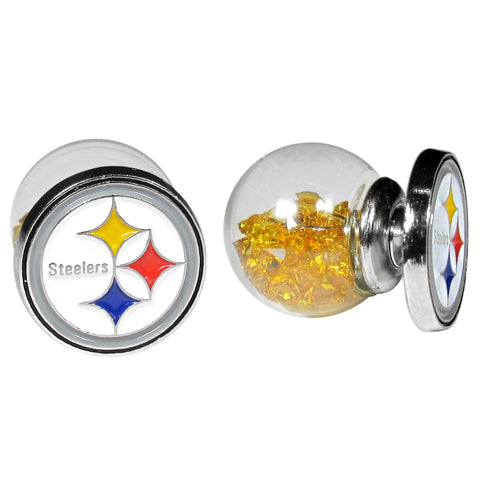 Pittsburgh Steelers Front/Back Earrings (NFL)