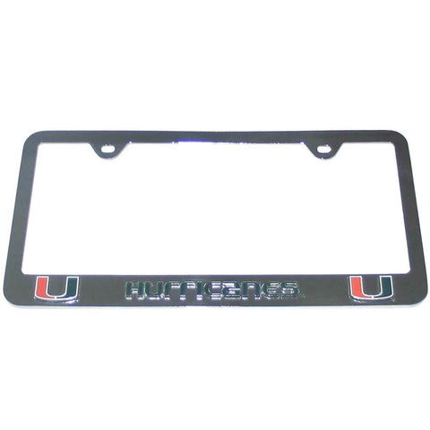 Miami Hurricanes 3-D Chrome Plated Metal License Tag Frame (NCAA)