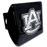 "Auburn Tigers Chrome Metal Black Hitch Cover (""AU"") NCAA"