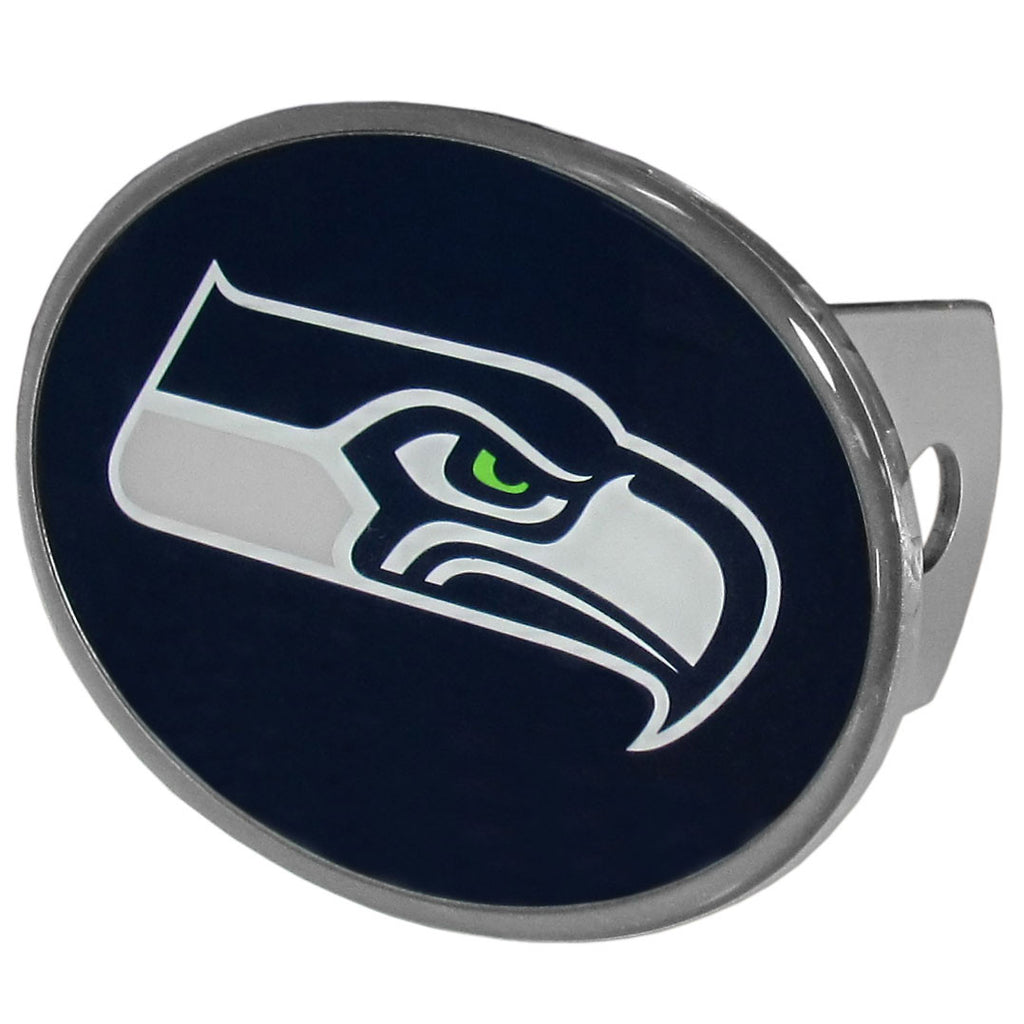 Seattle Seahawks Metal Oval Hitch Cover (NFL)