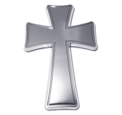 Cross Chrome Auto Emblem (Tapered)