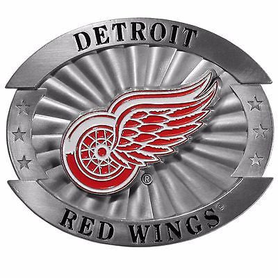 "Detroit Red Wings Over-sized 4"" Pewter Metal Belt Buckle (NHL)"