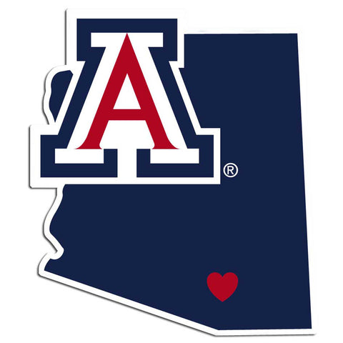 Arizona Wildcats Home State Vinyl Auto Decal (NCAA) Arizona Shape