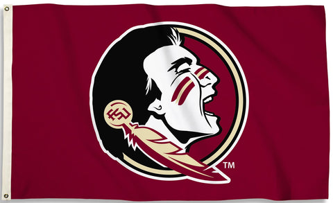 Florida State Seminoles 3' x 5' Flag (Logo Only on Garnet) NCAA