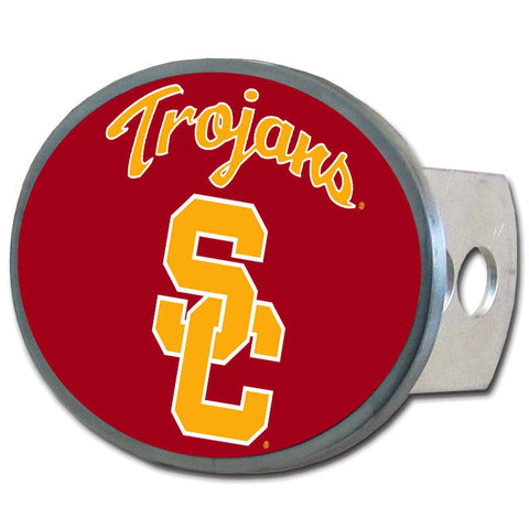 USC Trojans Metal Oval Hitch Cover NCAA Licensed