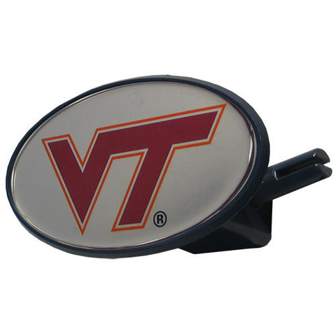 Virginia Tech Hokies Durable Plastic Oval Hitch Cover (NCAA Licensed) Large