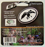 Duck Commander B&W Oval Chrome Auto Emblem Duck Dynasty