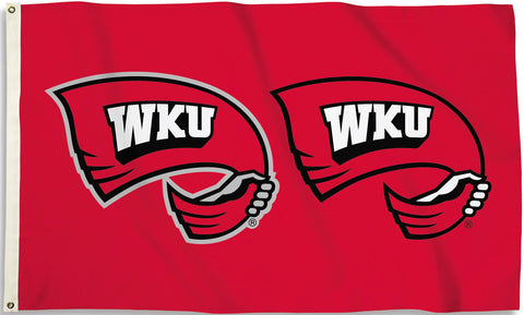 Western Kentucky Hilltoppers 3' x 5' Flag (Logo on Red) NCAA
