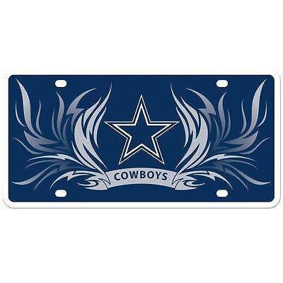 Dallas Cowboys Styrene License Plate (NFL)