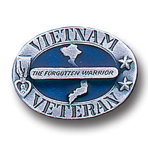 Vietnam Veteran Metal Lapel Pin (The Forgotten Warrior) Military