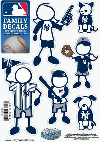 New York Yankees Outdoor Rated Vinyl Family Decals MLB Baseball
