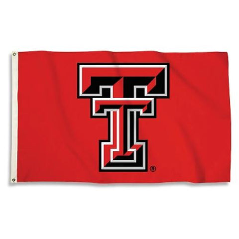 Texas Tech Red Raiders 3' x 5' Flag (Logo Only on Red) NCAA