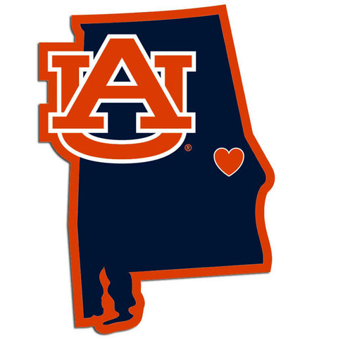 Auburn Tigers Home State Vinyl Auto Decal (NCAA Licensed) Alabama Shape