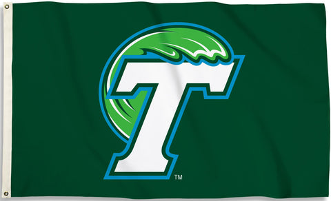 Tulane Green Wave 3' x 5' Flag (Logo Only on Green) NCAA