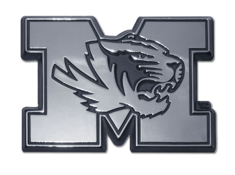 "Missouri Tigers Chrome Metal Auto Emblem (""M"" with Tiger) NCAA"