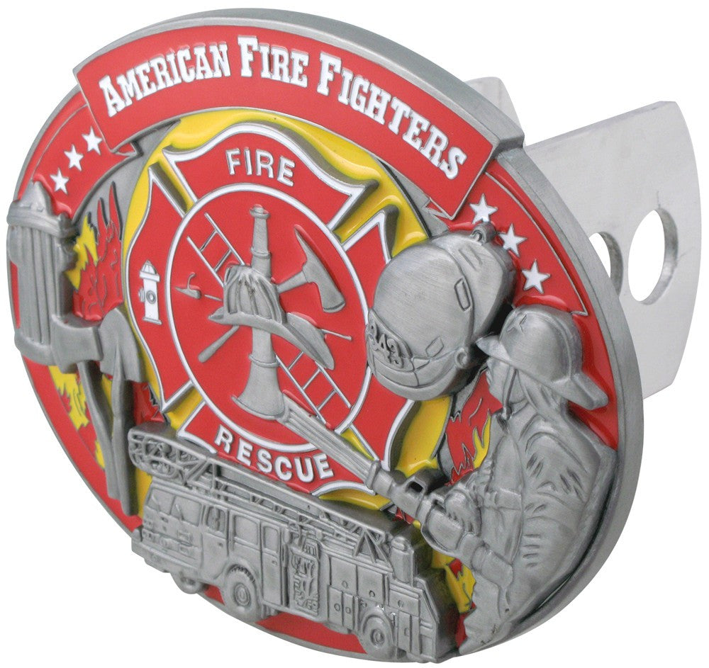 Firefighter 3-D Metal Hitch Cover (American Firefighters) Occupational