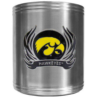 Iowa Hawkeyes Insulated Stainless Steel Can Cooler Coozie (Flames) (NCAA)