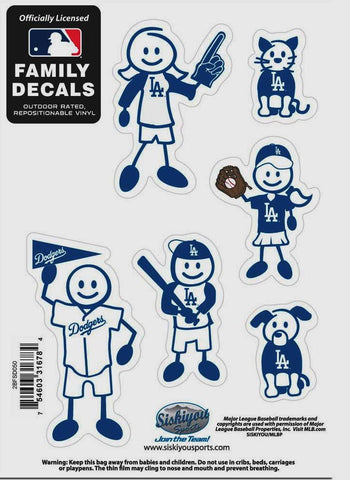 25 Sets of Los Angeles Dodgers Outdoor Rated Vinyl Family Decals MLB Baseball