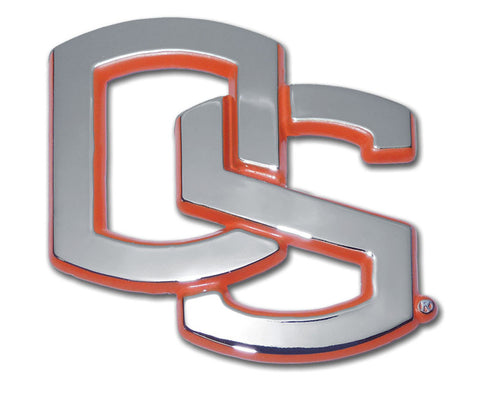 "Oregon State Beavers Chrome Metal Auto Emblem (Orange ""OS"") NCAA"