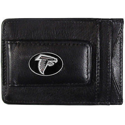 Atlanta Falcons Fine Leather Money Clip (NFL) Card & Cash Holder