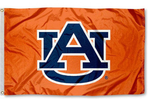 Auburn Tigers 2' x 3' Flag (Logo Only on Orange) NCAA