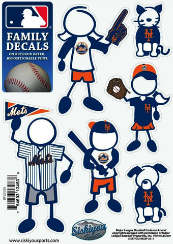 New York Mets Outdoor Rated Vinyl Family Decals MLB Baseball
