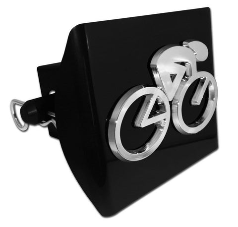 Cycling Black Plastic Hitch Cover (3-D Cyclist) Marathon