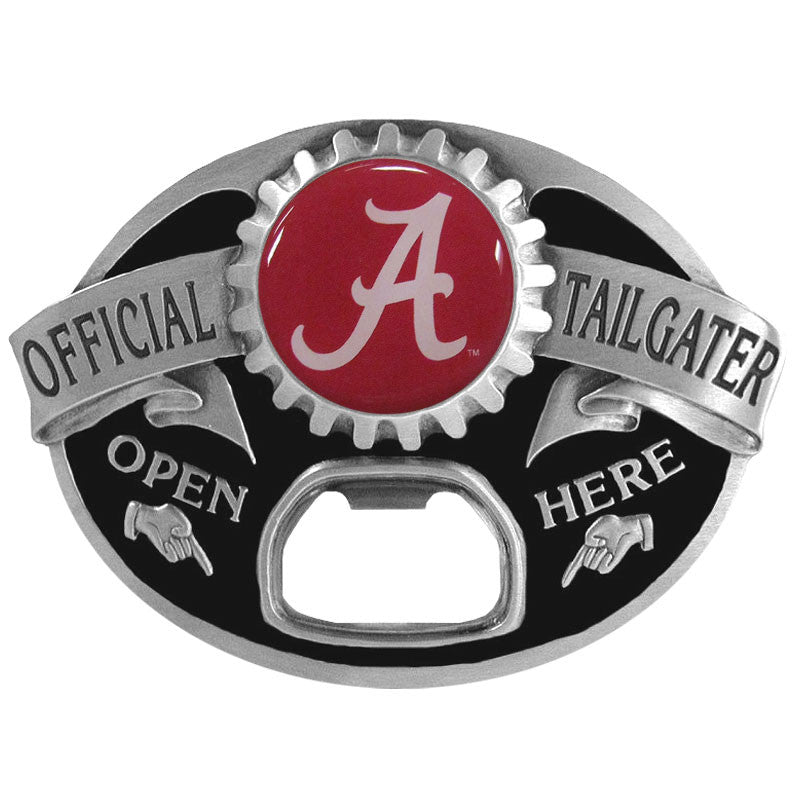 "Alabama Crimson Tide Tailgater Belt Buckle with Bottle Opener (Script ""A"")(NCAA)"
