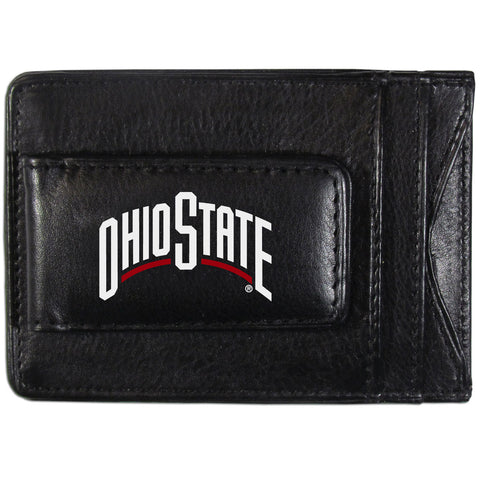 Ohio State Buckeyes Leather Money Clip Card & Cash Holder NCAA