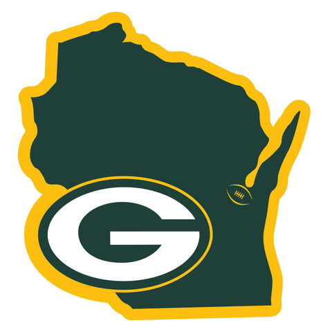 Green Bay Packers Home State Magnet (NFL) Wisconsin Shape