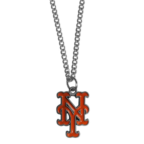 "New York Mets 22"" Chain Necklace Metal Logo MLB Jewelry LG"